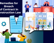 Contract broke, a scene of construction company working and another set of court sesion