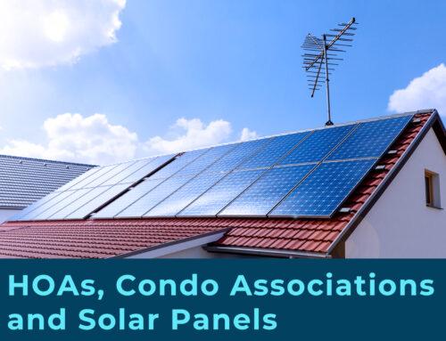HOAs, Condo Associations and Solar Panels