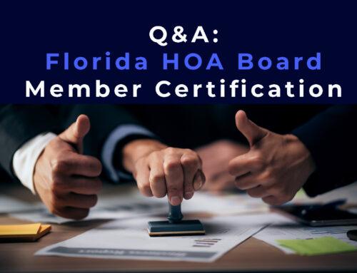 Q&A: Florida HOA Board Member Certification
