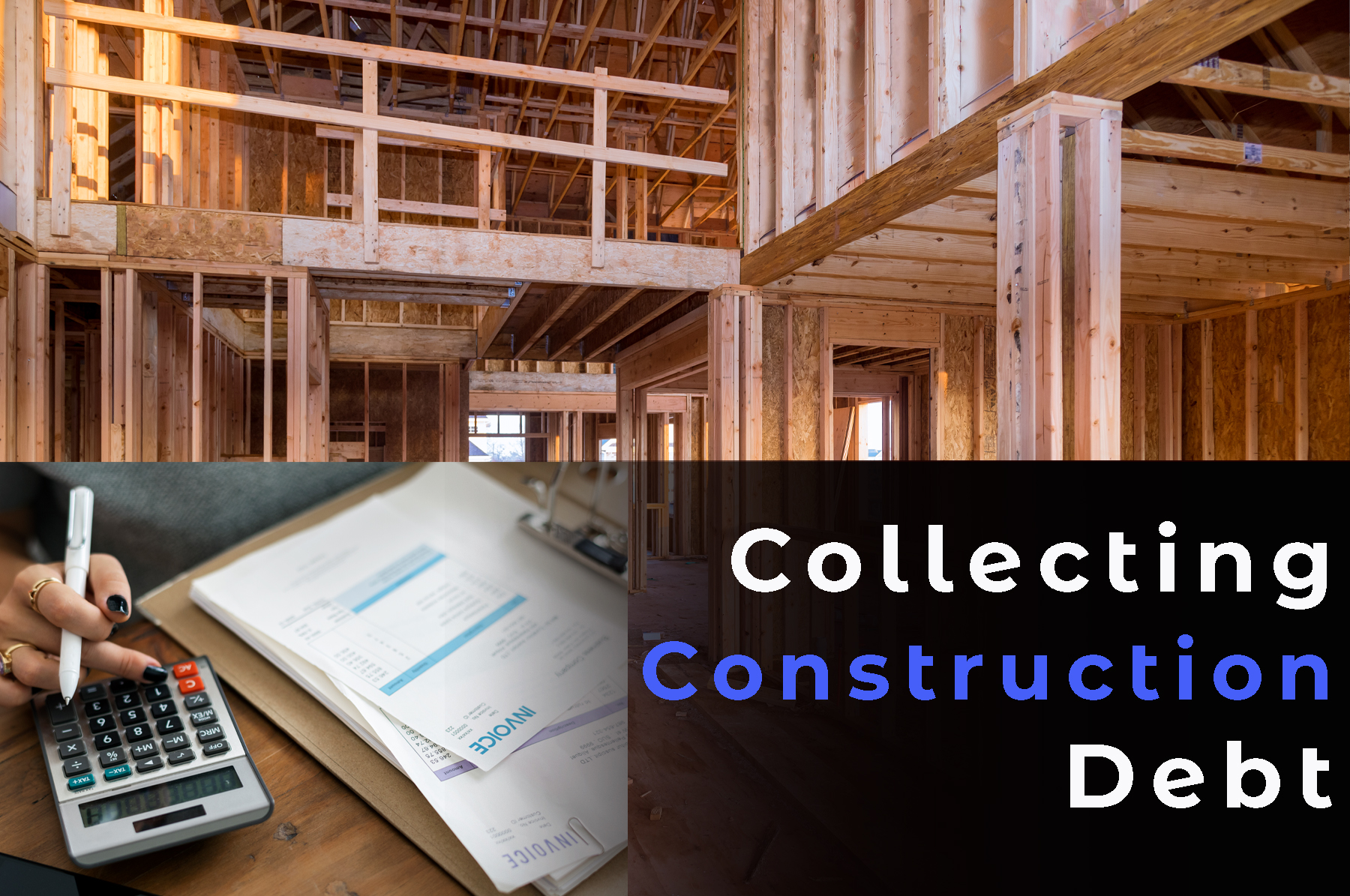 construction side with construction invoices